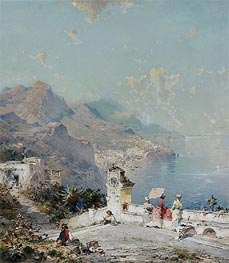 Amalfi, Gulf of Salerno, undated by Unterberger | Painting Reproduction