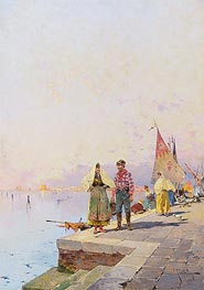 A Sunny Day in Venice, undated by Unterberger | Painting Reproduction
