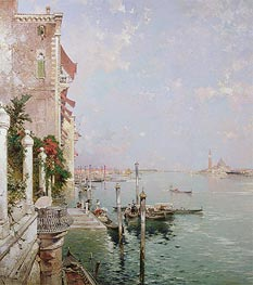 Venice: View from the Zattere with San Giorgio Maggiore in the Distance, undated by Unterberger | Painting Reproduction