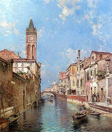 Rio Santa Barnaba, Venice | Unterberger | Painting Reproduction