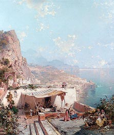Amalfi, the Gulf of Salerno | Unterberger | Gemälde Reproduktion