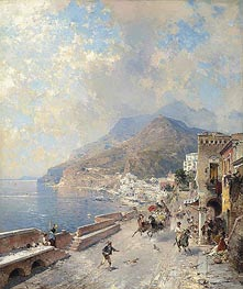Gulf of Salerno, Amalfi | Unterberger | Painting Reproduction