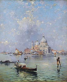 Gondolas in front of the Santa Maria della Salute, Venice, undated von Unterberger | Gemälde-Reproduktion