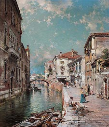 Rio Tiorado, Venice | Unterberger | Painting Reproduction