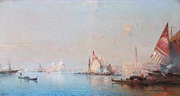 A View across the Lagoon towards the Grand Canal, c.1880/82 von Unterberger | Gemälde-Reproduktion