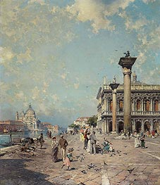 Piazza San Marco, Venice, c.1894/95 by Unterberger | Painting Reproduction