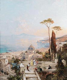 Amalfi, Looking towards the Gulf of Salerno, undated von Unterberger | Gemälde-Reproduktion