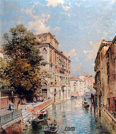 A View in Venice, Rio S. Marina, undated | Unterberger | Painting Reproduction