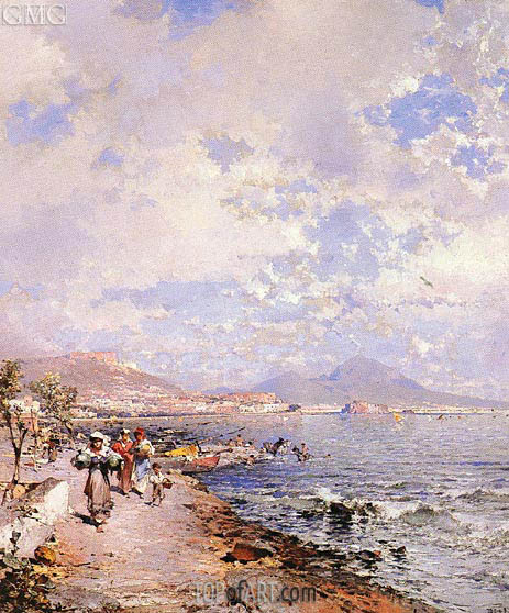 The Bay of Naples, undated | Unterberger | Painting Reproduction