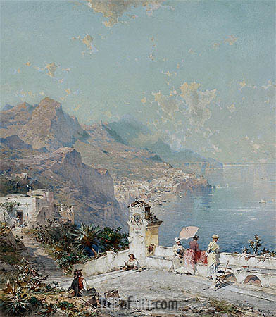 Amalfi, Gulf of Salerno, undated | Unterberger | Gemälde Reproduktion