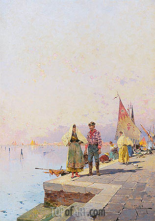 A Sunny Day in Venice, undated | Unterberger | Gemälde Reproduktion