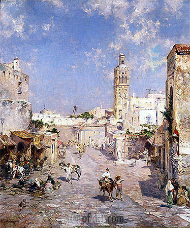 Figures in a Moorish Town, undated | Unterberger | Painting Reproduction