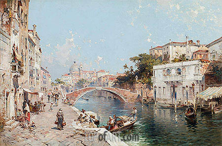 Canal in Venice, undated | Unterberger | Painting Reproduction