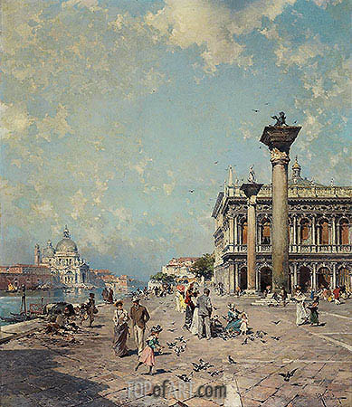 Piazza San Marco, Venice, c.1894/95 | Unterberger | Painting Reproduction