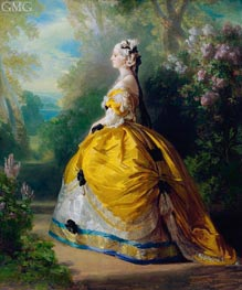 The Empress Eugenie de Montijo, Condesa de Teba, 1854 by Franz Xavier Winterhalter | Painting Reproduction