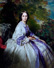 Countess Alexander Nikolaevitch Lamsdorff, 1859 by Franz Xavier Winterhalter | Painting Reproduction
