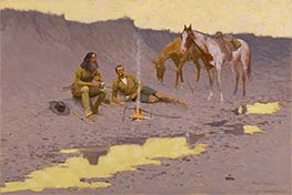 A New Year on the Cimarron | Frederic Remington | Painting Reproduction