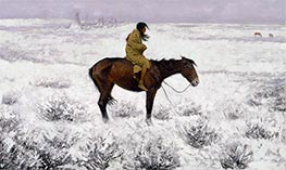 The Herd Boy, c.1905 by Frederic Remington | Painting Reproduction
