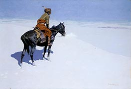 Friends or Foes? (The Scout), c.1902/05 by Frederic Remington | Painting Reproduction