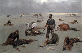 What an Unbranded Cow Has Cost | Frederic Remington | Gemälde Reproduktion