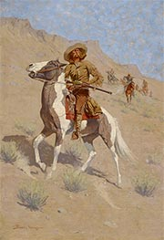The Scout, c.1902 by Frederic Remington | Painting Reproduction