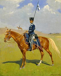 The Hussar, 1893 by Frederic Remington | Painting Reproduction
