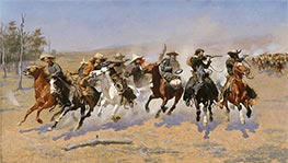 A Dash for the Timber | Frederic Remington | Painting Reproduction