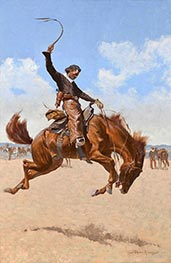 Ein Buck-Jumper | Frederic Remington | Gemälde Reproduktion