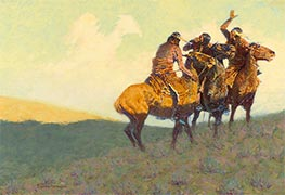 With the Eye of the Mind, 1908 by Frederic Remington | Painting Reproduction