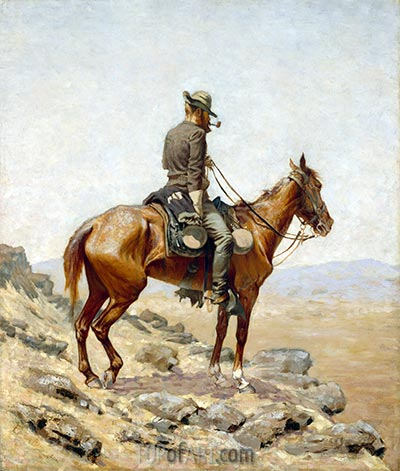 The Lookout, 1887 | Frederic Remington | Painting Reproduction