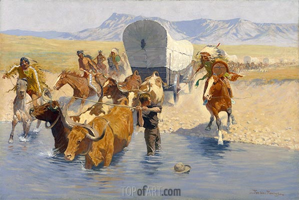 The Emigrants, c.1904 | Frederic Remington | Painting Reproduction