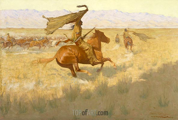Horse Thieves, 1903 | Frederic Remington | Painting Reproduction