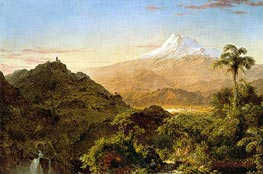 South American Landscape, 1856 von Frederic Edwin Church | Gemälde-Reproduktion