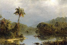 Tropical Landscape, c.1855 von Frederic Edwin Church | Gemälde-Reproduktion