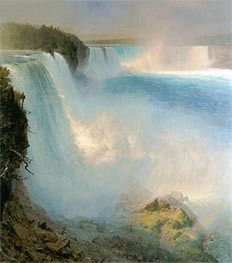 Niagara Falls, 1867 by Frederic Edwin Church | Painting Reproduction