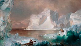The Icebergs, 1861 by Frederic Edwin Church | Painting Reproduction