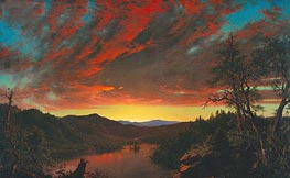 Twilight in the Wilderness, 1860 by Frederic Edwin Church | Painting Reproduction