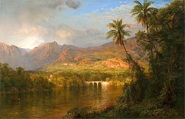 South American Landscape, 1873 von Frederic Edwin Church | Gemälde-Reproduktion