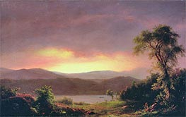 A Catskill Landscape, c.1858/60 by Frederic Edwin Church | Painting Reproduction