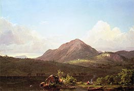 Camp Fire in the Maine Wilderness, undated by Frederic Edwin Church | Painting Reproduction