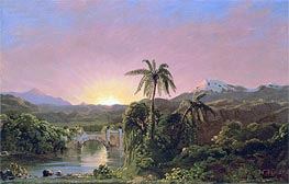 Sunset in Equador, undated by Frederic Edwin Church | Painting Reproduction