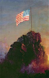 Our Flag, 1864 by Frederic Edwin Church | Painting Reproduction