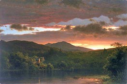 Twilight (Catskill Mountain), 1858 von Frederic Edwin Church | Gemälde-Reproduktion