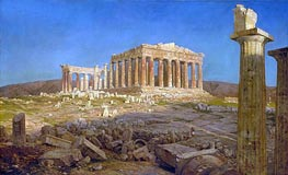 The Parthenon, 1871 by Frederic Edwin Church | Painting Reproduction