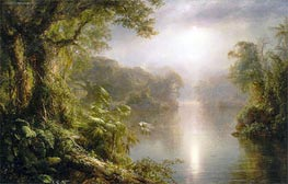 El Rio de Luz (The River of Light), 1877 by Frederic Edwin Church | Painting Reproduction