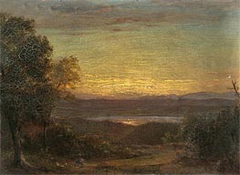 Sunset from Olana | Frederic Edwin Church | Painting Reproduction
