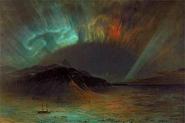 Aurora Borealis, 1865 by Frederic Edwin Church | Painting Reproduction