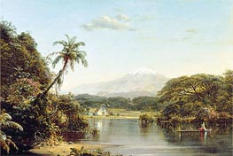View on the Magdalena River, 1857 by Frederic Edwin Church | Painting Reproduction