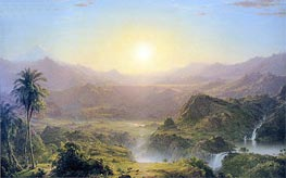 The Andes of Ecuador, 1855 by Frederic Edwin Church | Painting Reproduction