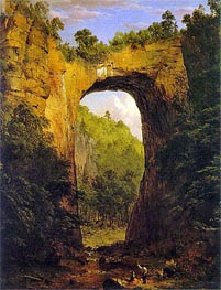 The Natural Bridge, Virginia, 1852 by Frederic Edwin Church | Painting Reproduction
